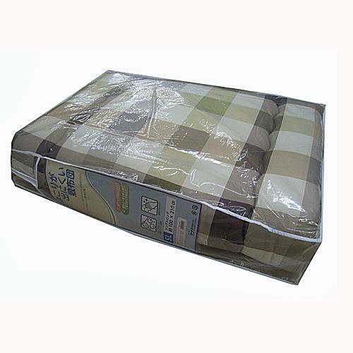 コーナン オリジナル ほこりが出にくい チェック柄敷布団 シングル