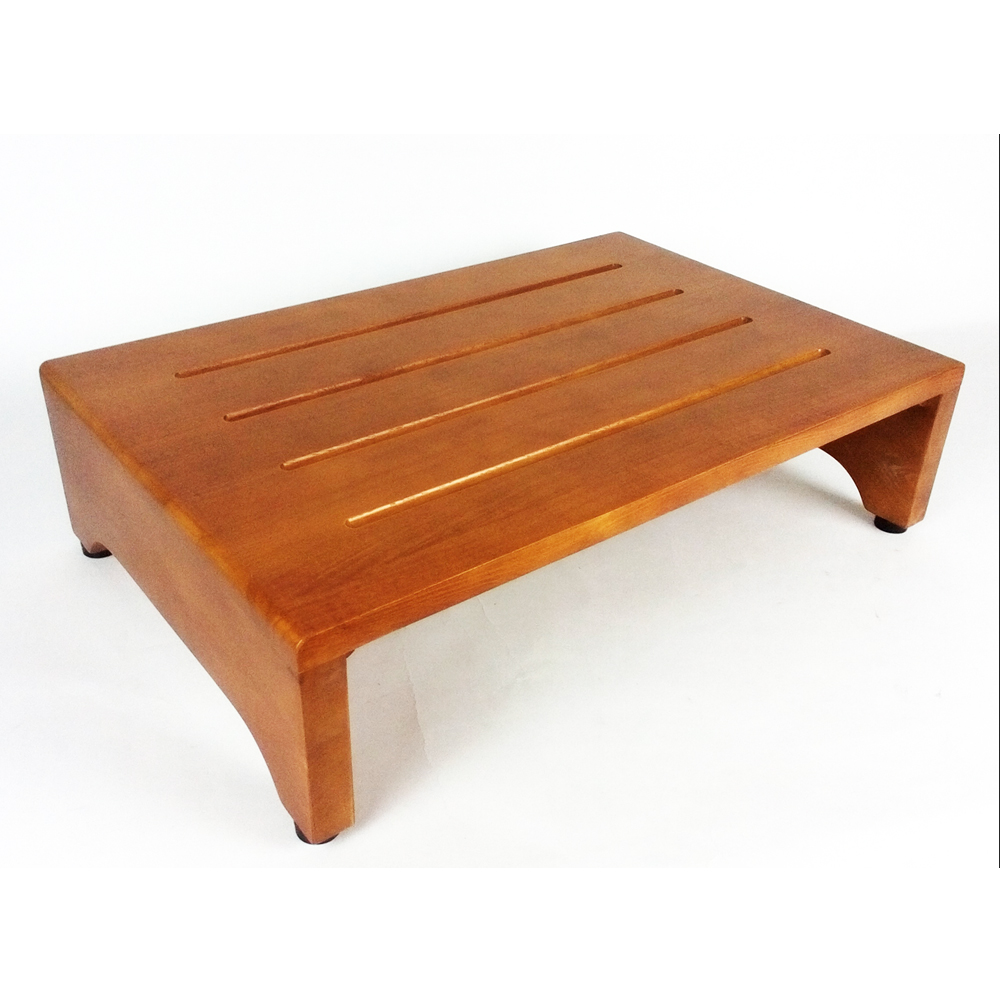 コーナン オリジナル 木製玄関台(アジャスター付) ブラウン (約)幅600×奥行400×H160mm GD600-01-1299