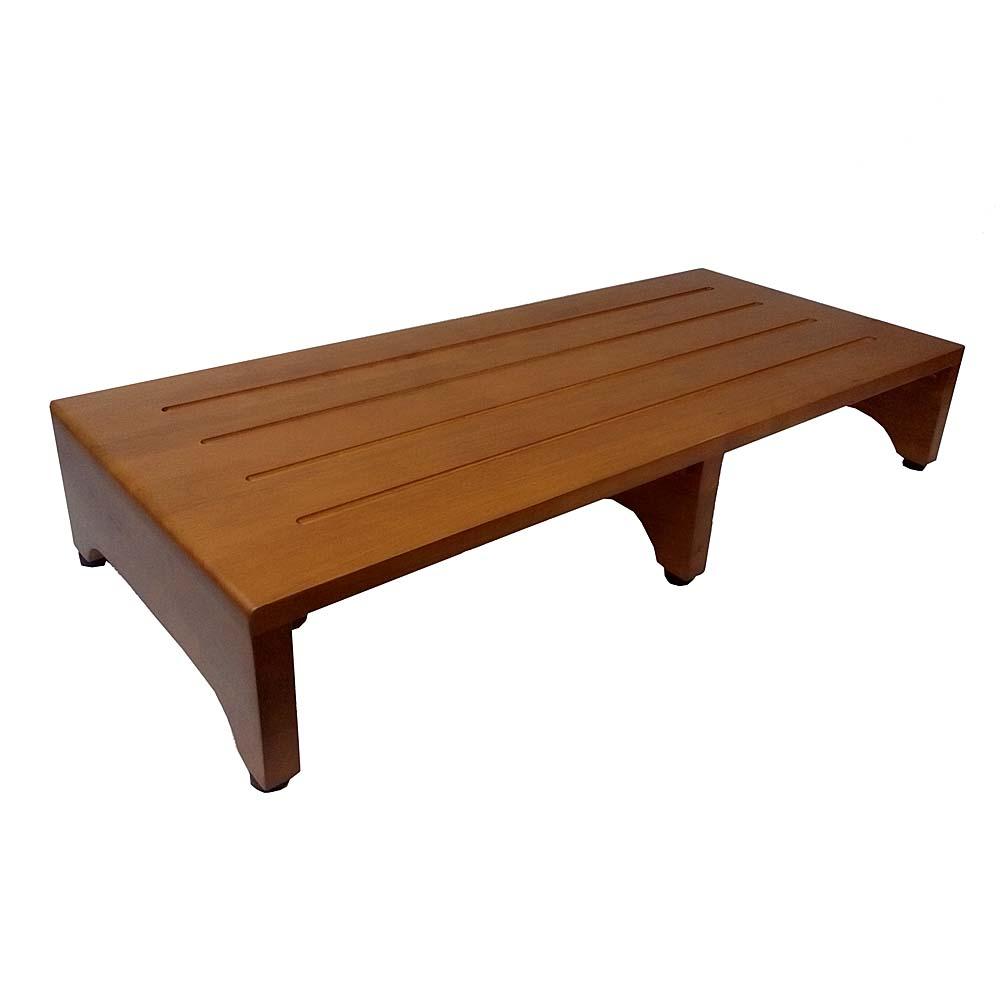 コーナン オリジナル 木製玄関台(アジャスター付) ブラウン (約)幅900×奥行400×H160mm GD900-01-1305