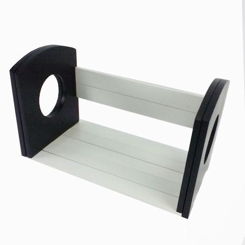 コーナン オリジナル スライド本立て ホワイト/ブラック SHWB01−1350