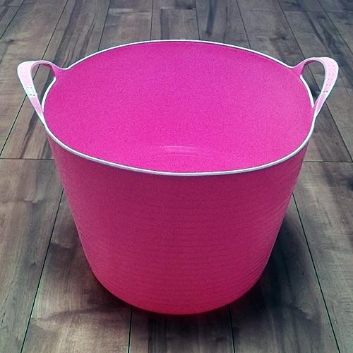 コーナン オリジナル ランドリーバスケット ピンク (PK)KSL21−2272