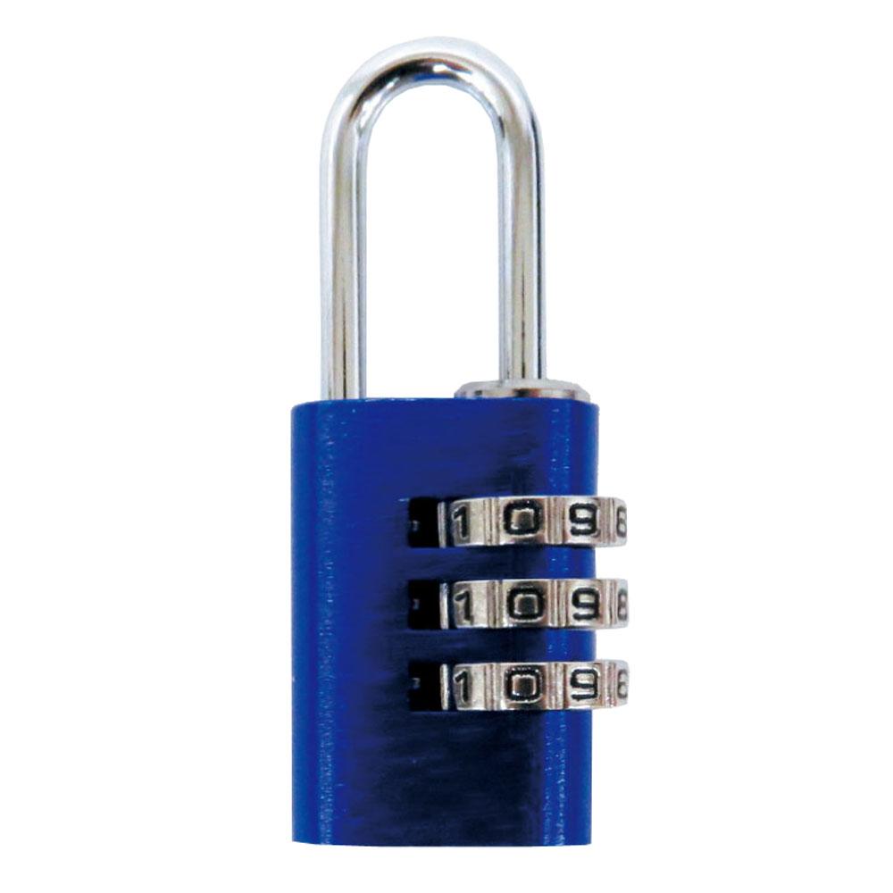 コーナン オリジナル 可変式アルミ番号錠3ダイヤルL323 青