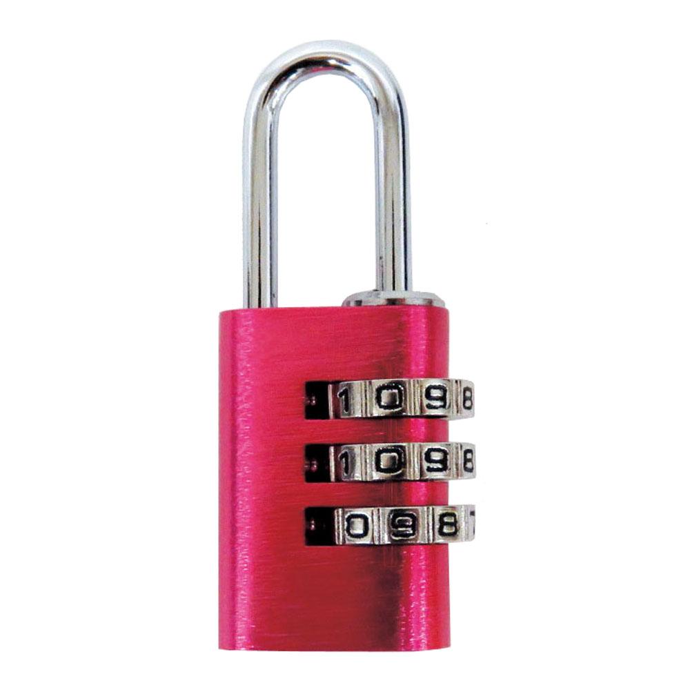 コーナン オリジナル 可変式アルミ番号錠3ダイヤルL323 ピンク