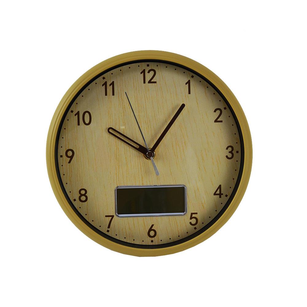 コーナン オリジナル 木調置き掛け時計NA 日付付き FX−7828Q1