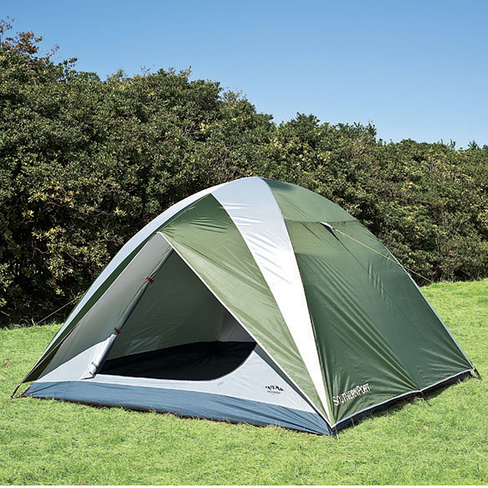 コーナン オリジナル UVカット 防水加工 5人用 ドームテント グリーン 幅270X奥行270X高さ170cm