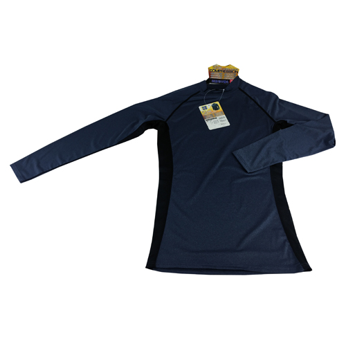 コーナン オリジナル コンプレッション長袖 シャツ 杢ネイビー M