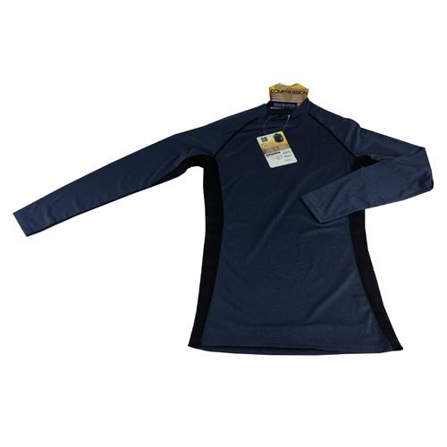 コーナン オリジナル コンプレッション長袖 シャツ 杢ネイビー L