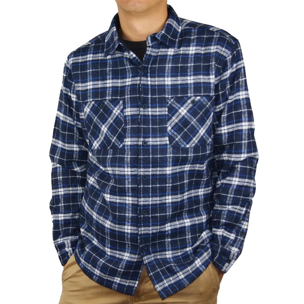 コーナン オリジナル 裏フリースワークシャツ ブルー M