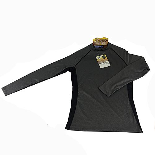 コーナン オリジナル コンプレッション長袖 シャツ 杢グレー M