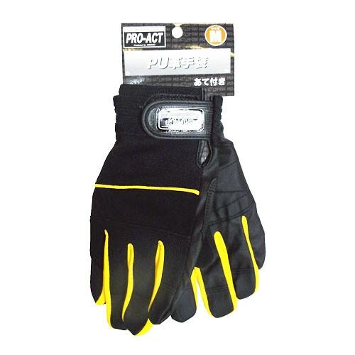 コーナン オリジナル PU革手袋 あて付き M HL04−4235