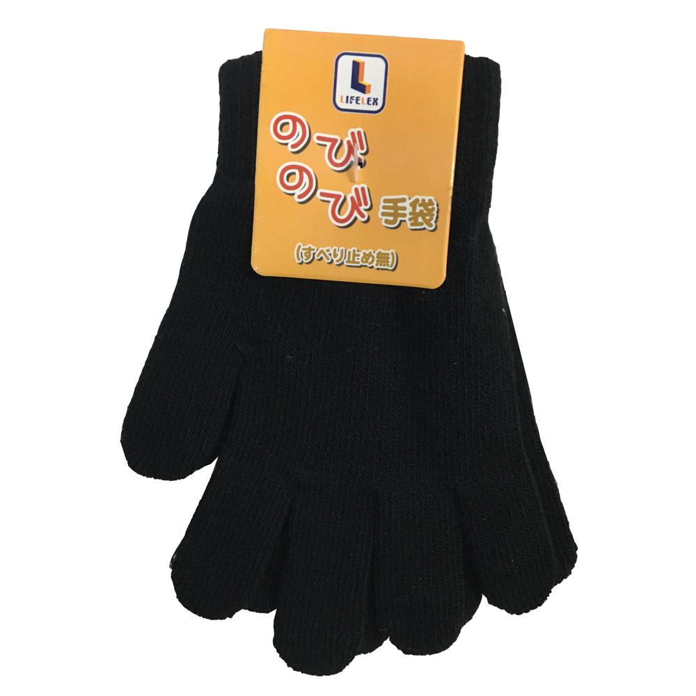 コーナン オリジナル LIFELEX のびのび手袋 NOBI04−4808 ブラック