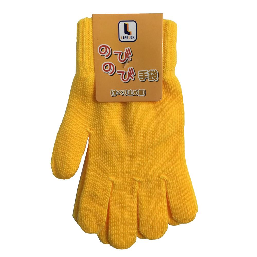 コーナン オリジナル LIFELEX のびのび手袋 NOBI04−4808 ゴールデンイエロー