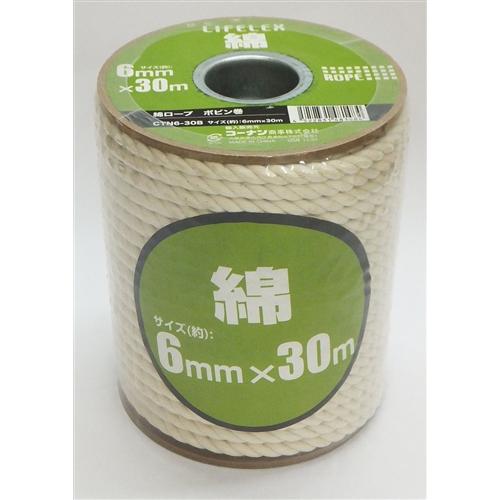コーナン オリジナル 綿ロープボビン巻 6mm×30m