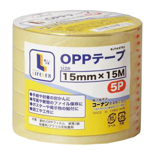 コーナン オリジナル OPPテープ 5巻パック 15mm×15m
