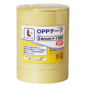 コーナン オリジナル OPPテープ 5巻パック 24mm×15m