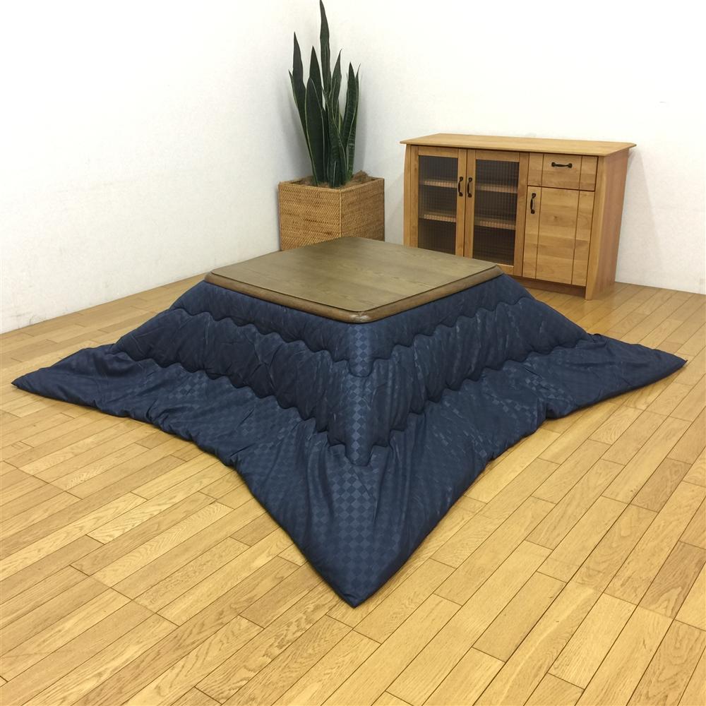 コーナン オリジナル こたつ布団ブロック�U  ネイビー 約幅190×奥行190cm