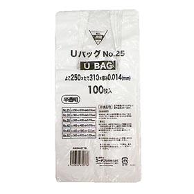 コーナン オリジナル Uバッグ半透明#25 100枚 AN04−0776