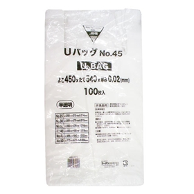 コーナン オリジナル Uバッグ半透明#45 100枚 AN04−0813