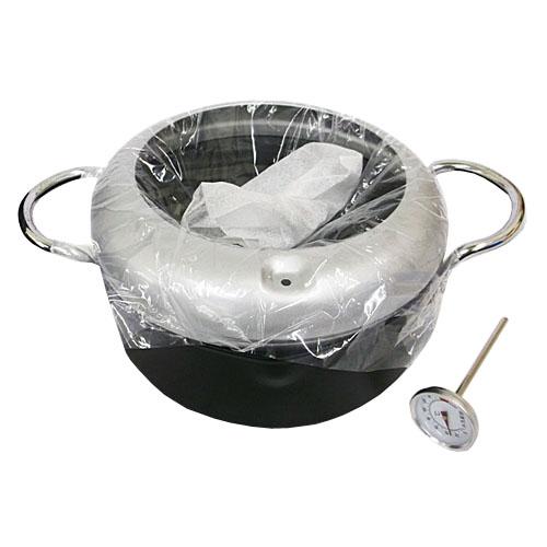 コーナン オリジナル 温度計付両手天ぷら鍋 20cm BW023