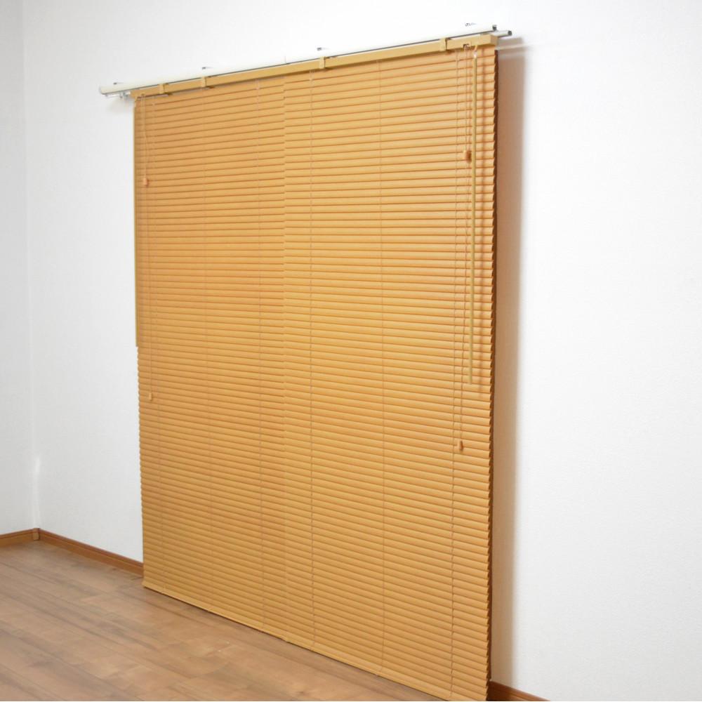 コーナン オリジナル PVC木目調ブラインド ナチュラル 約168×183cm