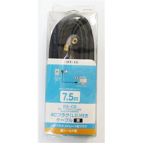 コーナン オリジナル 4Cプラグ付ケーブル KMT08−3765 黒