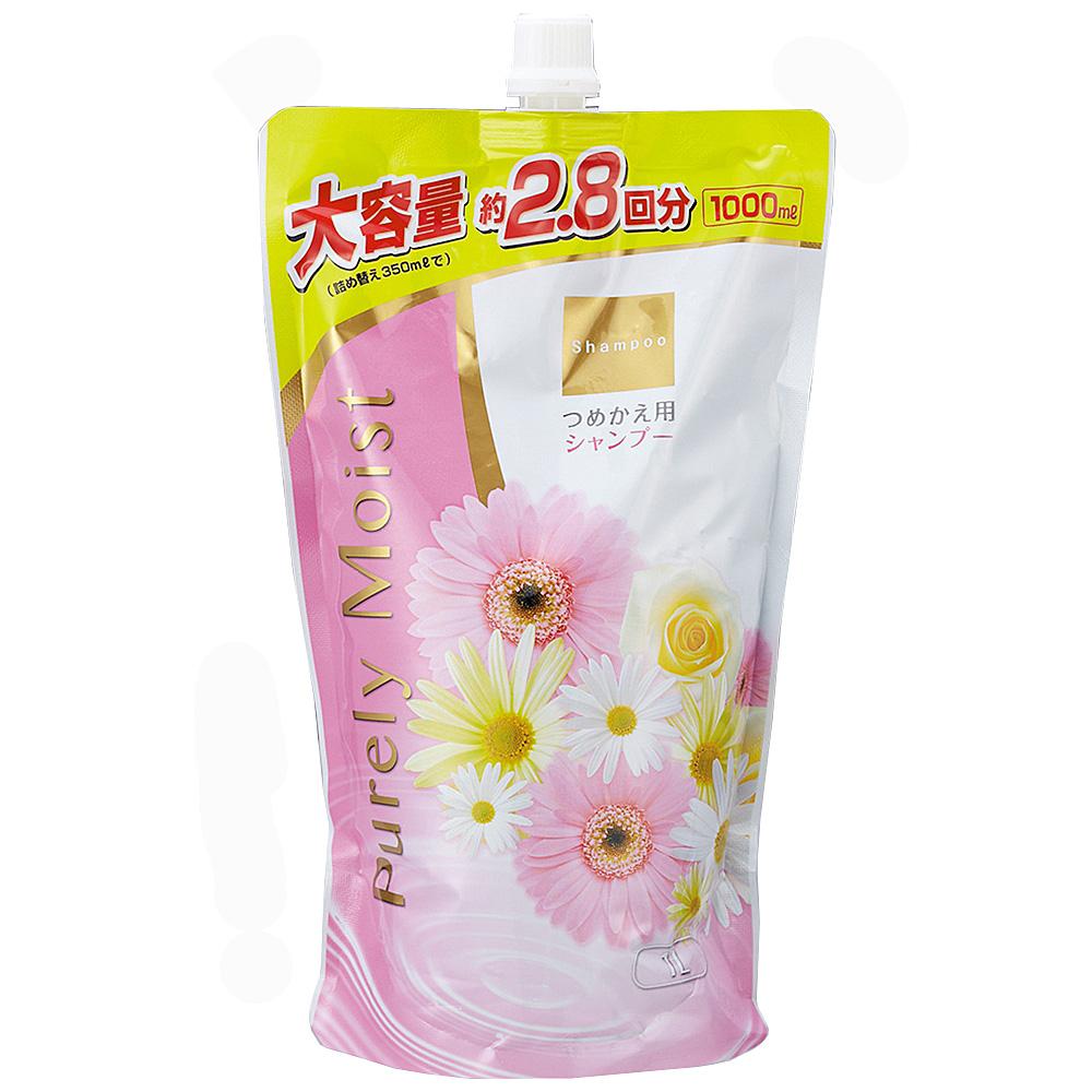 コーナン オリジナル Purely Moist シャンプー フローラルの香り つめかえ用 1000ml