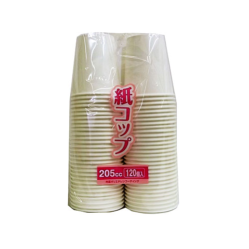 コーナン オリジナル 紙コップ 205cc 120個入 KFY05−9210