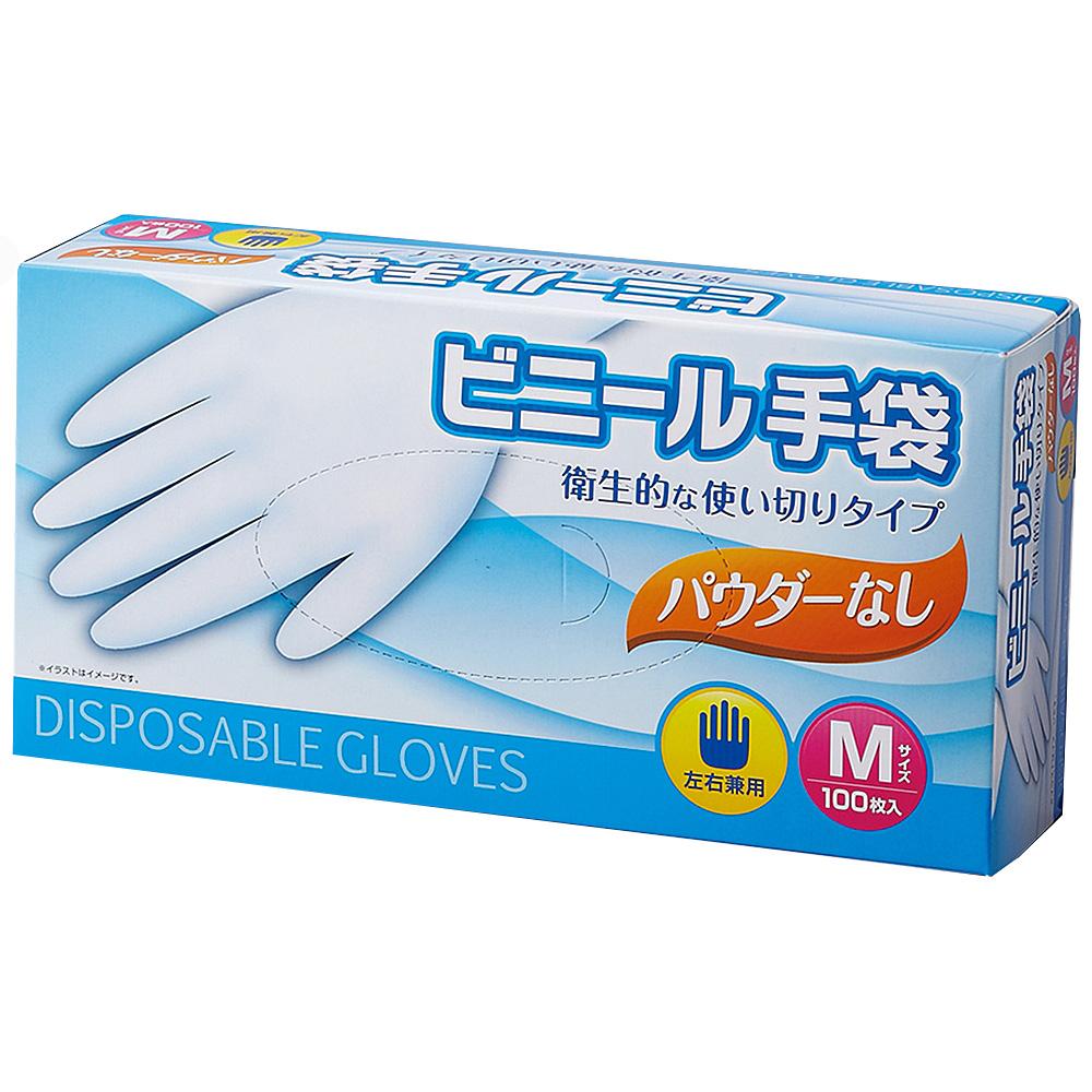 コーナン オリジナル ビニール手袋パウダーなし M KFJ19−9408