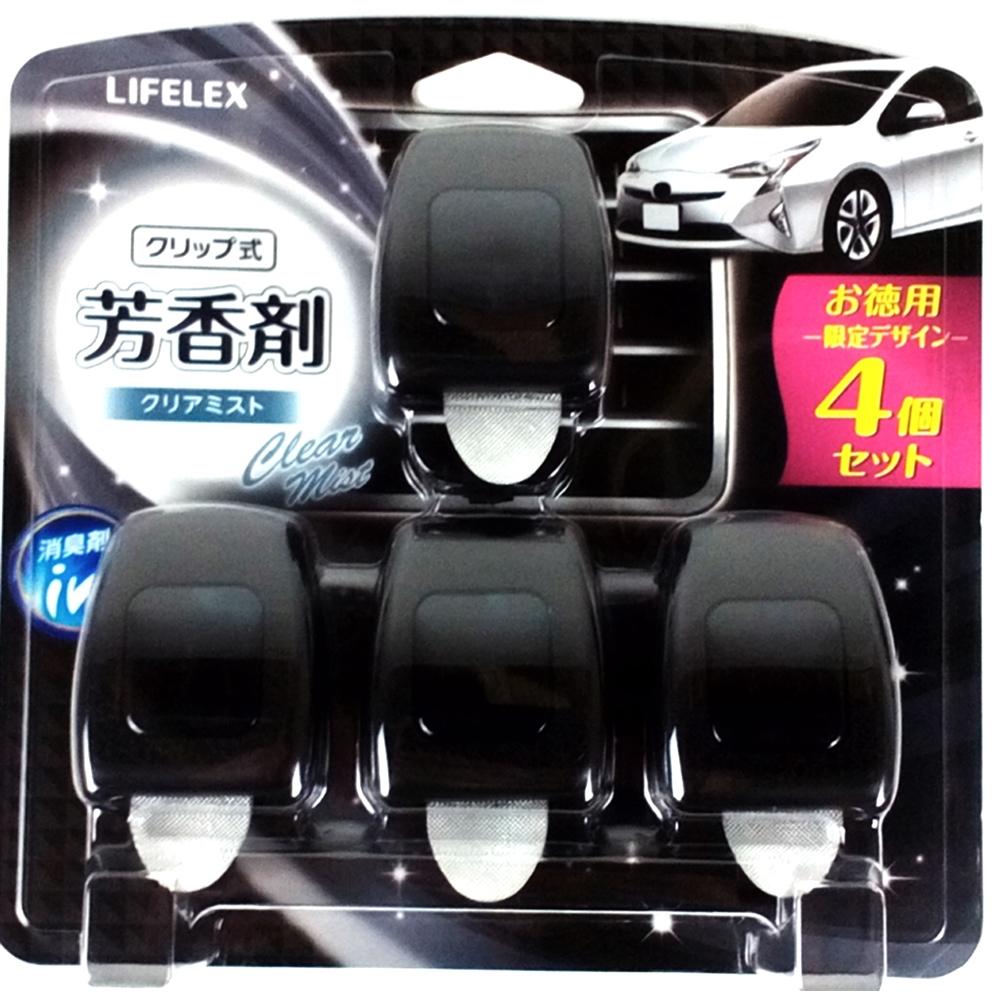 コーナン オリジナル クリップ式芳香剤 クリアミスト 4個入 (車用消臭・芳香剤)