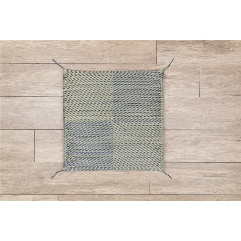 コーナン オリジナル 座布団 ブロック ブルー 約55×55cm