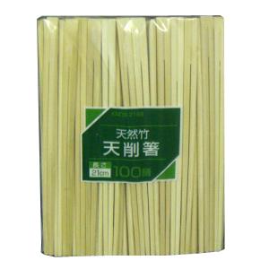 コーナン オリジナル 竹天削 100膳 21cm KN05−2189