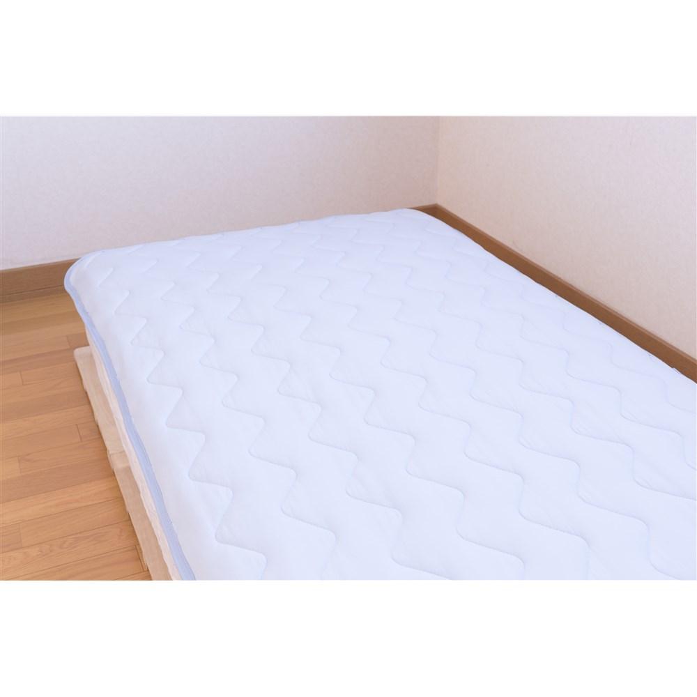 コーナン オリジナル マシュマロひんやり敷きパッド ブルー 約幅100×奥行205cm