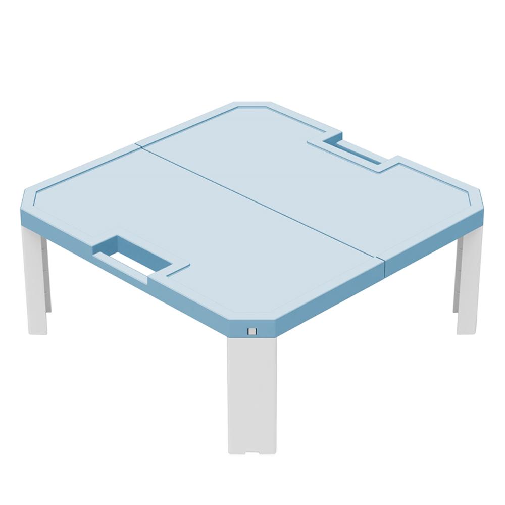JEJ 折畳式 レジャーテーブル ライトブルー 約550X550XH230mm 重量約1120g 静止耐荷重約3Kg