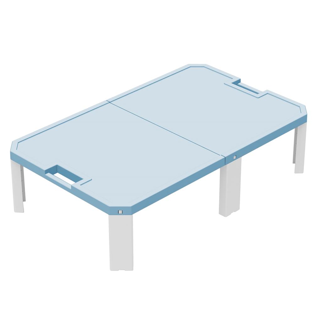 JEJ 折畳式 レジャーテーブル ワイド ライトブルー 約900X550XH230mm 重量約1680g 静止耐荷重約10Kg