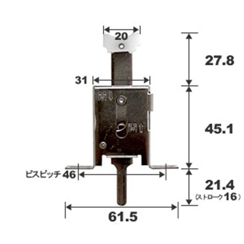 マツロク(マツ六) 雨戸錠YKK−515下部用 雨戸5DA・6DA