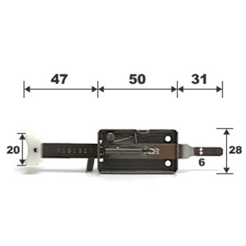 マツロク(マツ六) 雨戸錠YKK−516下部用 断熱雨戸用