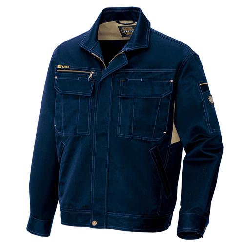 T/C長袖ブルゾン AZ−3801 ネイビー 3L