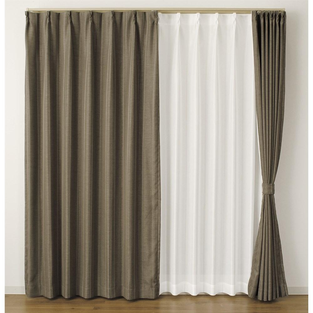 カーテン マター 2枚組 幅100×高さ200cm 2枚組  ブラウン