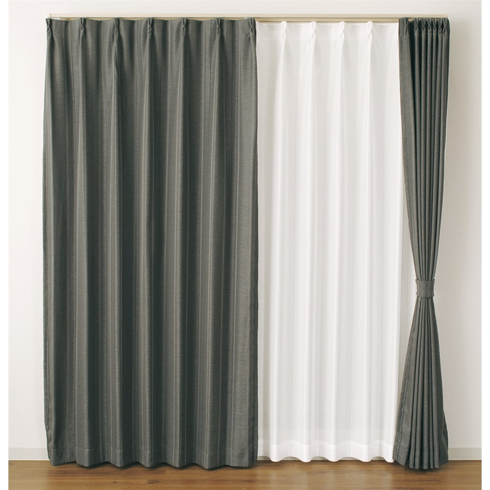 カーテン マター 2枚組 幅100×高さ135cm 2枚組 ブラック