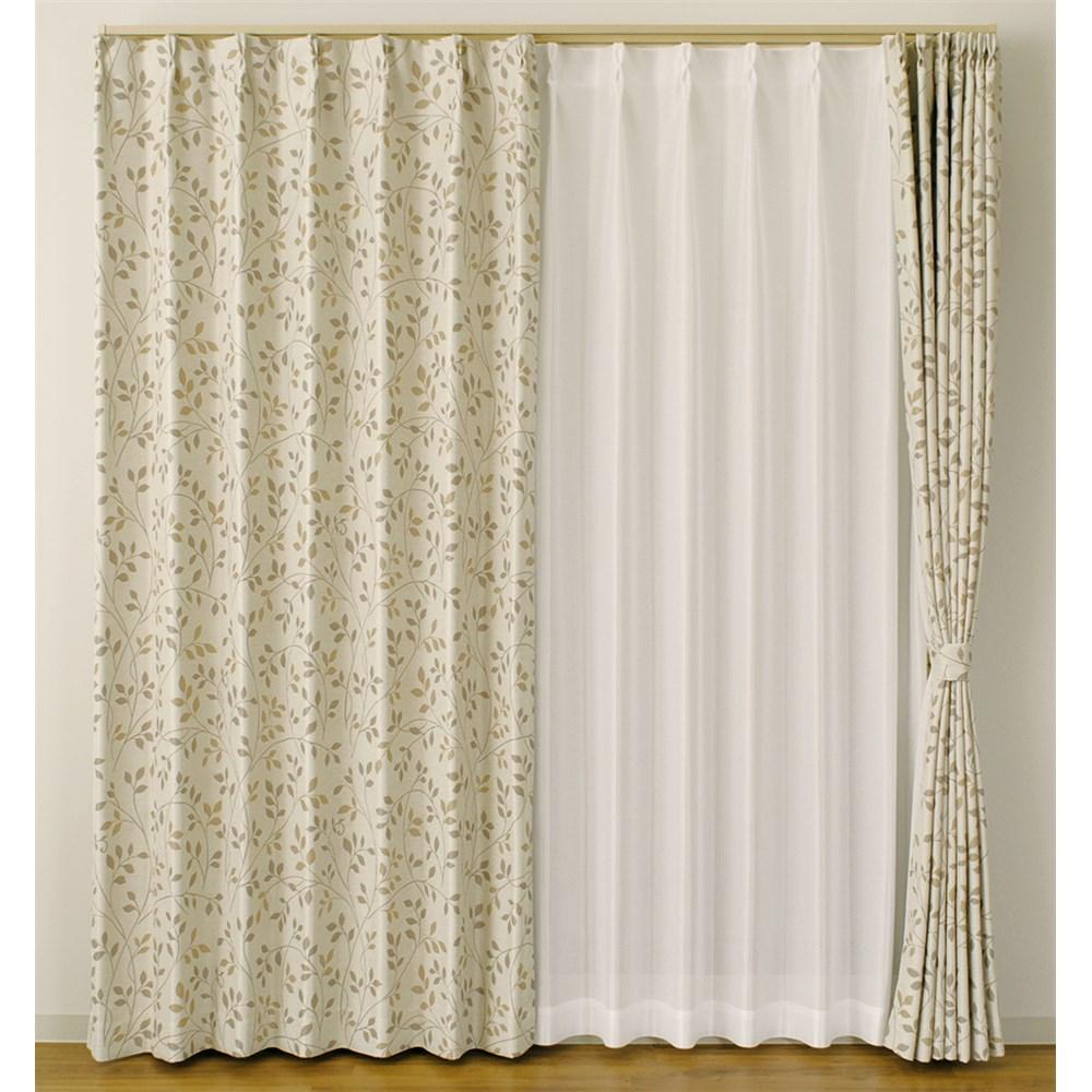カーテン リリス2 2枚組 幅100×高さ135cm 2枚組  ベージュ