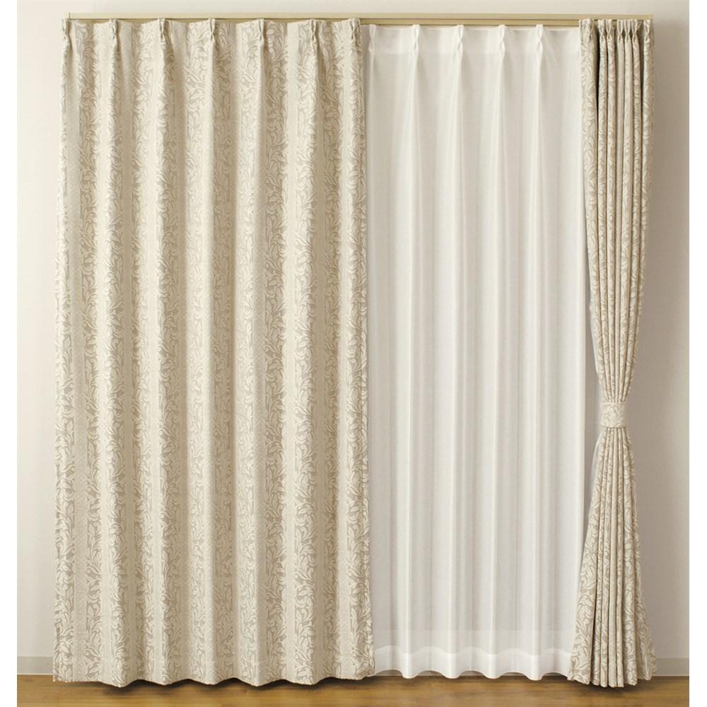 カーテン イーゼル 2枚組 幅100×高さ100cm 2枚組  ベージュ