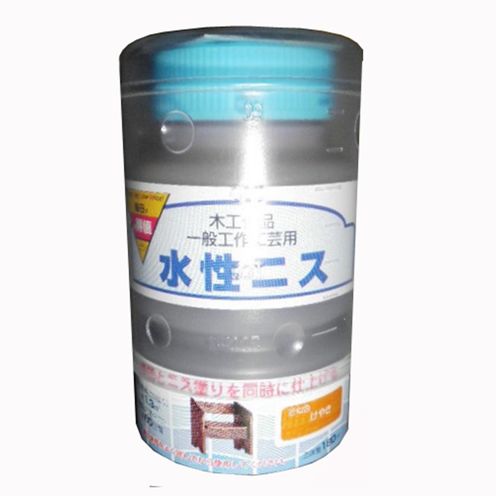○水性ニス 180ML ケヤキ