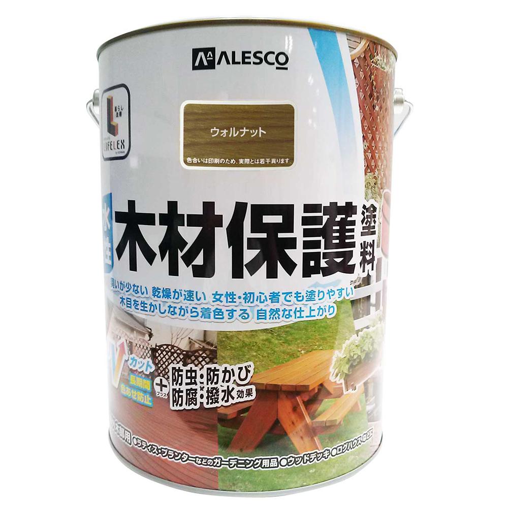 ○水性木材保護塗料 ウォルナット 3L