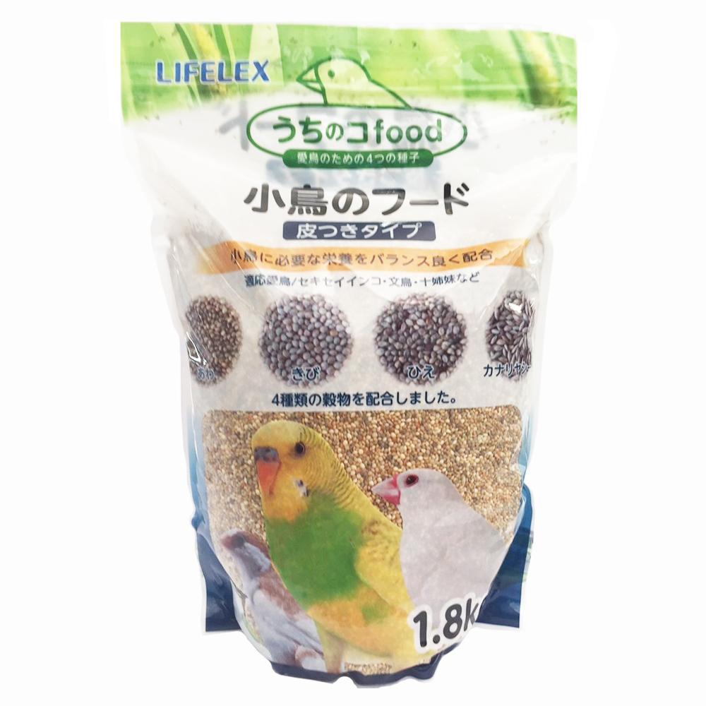 ライフレックス小鳥のフード皮付1.8kg