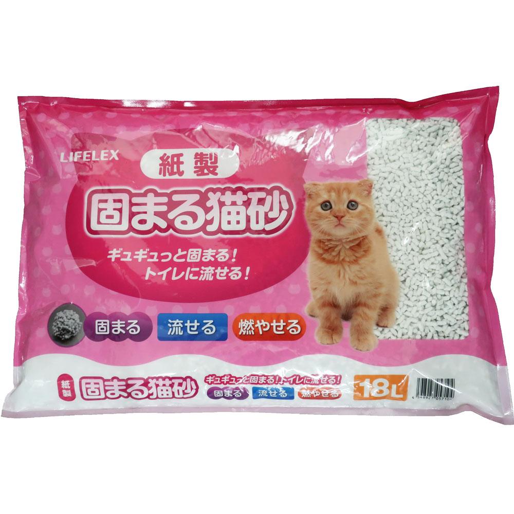 紙製固まる猫砂 18L