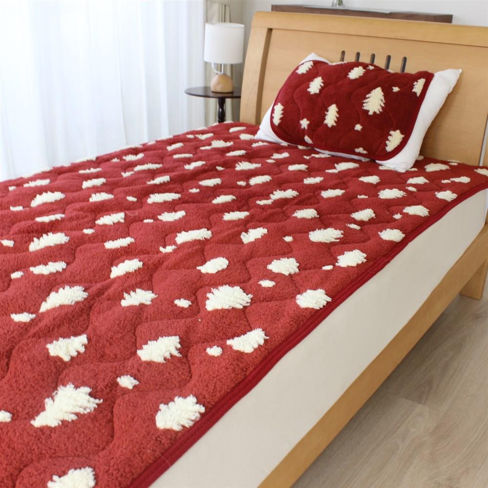 枕パッド ジャガードツリー 35x50、43x63cm枕サイズ兼用 MP184086−13