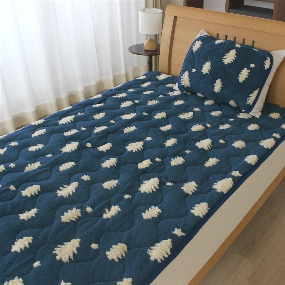 枕パッド ジャガードツリー 35x50、43x63cm枕サイズ兼用 MP184086−72