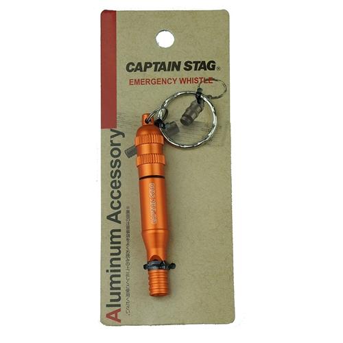 CAPTAIN STAG(キャプテンスタッグ) アルミアクセサリー エマージェンシーホイッスル(オレンジ)UM−1892