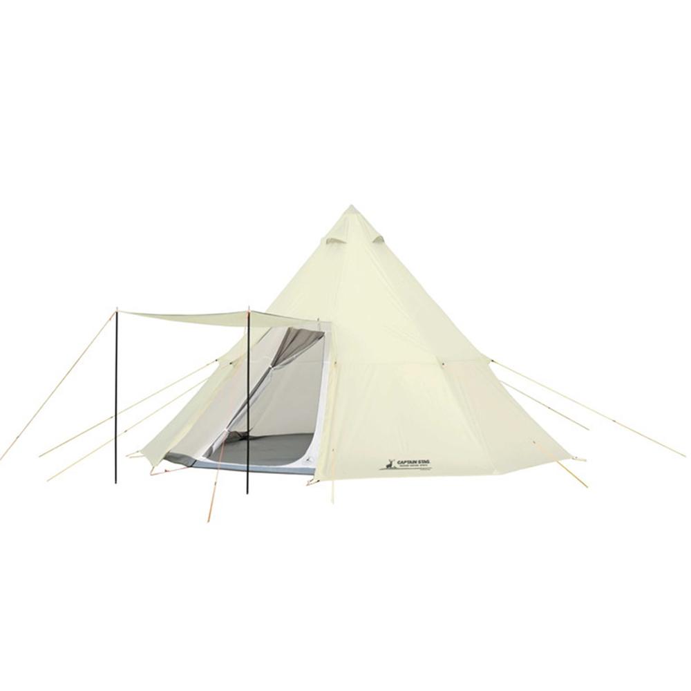 キャプテンスタッグ(CAPTAIN STAG) テント ワンポールテント オクタゴン ティピー型 7~8人用 【サイズ460×460×H300cm】 UV・PU加工 キャリーバッグ付き CSクラシックス UA-35 ※椅子・テーブル等は商品には含まれません
