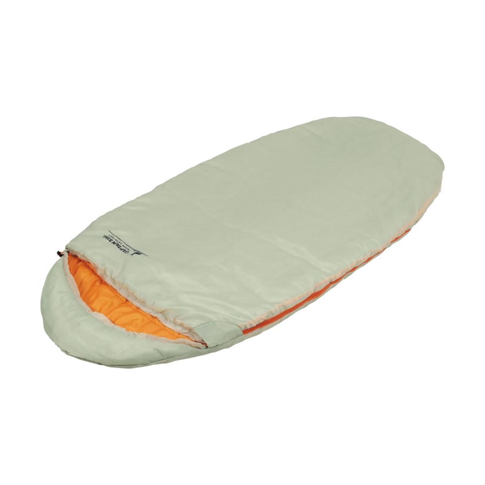 キャプテンスタッグ(CAPTAIN STAG) 寝袋 シュラフ 子供用 エッグ型シュラフ 中綿700g 【最低使用温度10度】 丸洗い 収納袋付き グラスホワイト UB-23